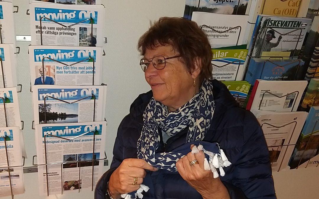 En helt vanlig dag i februari får vi ett trevligt besök av kalkveteranen Iréne  Widerberg.