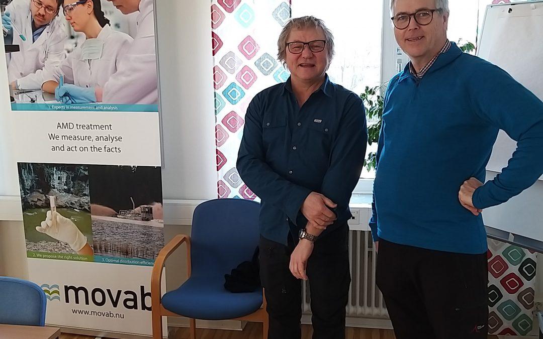 I veckan har vi haft äran att få bjuda miljöinspektören Gunnar Gustavsson, Gislaveds kommun och miljökonsult Lasse Sangedal på kaffe efter ett givande möte inför den kommande kalkspridnings säsongen.