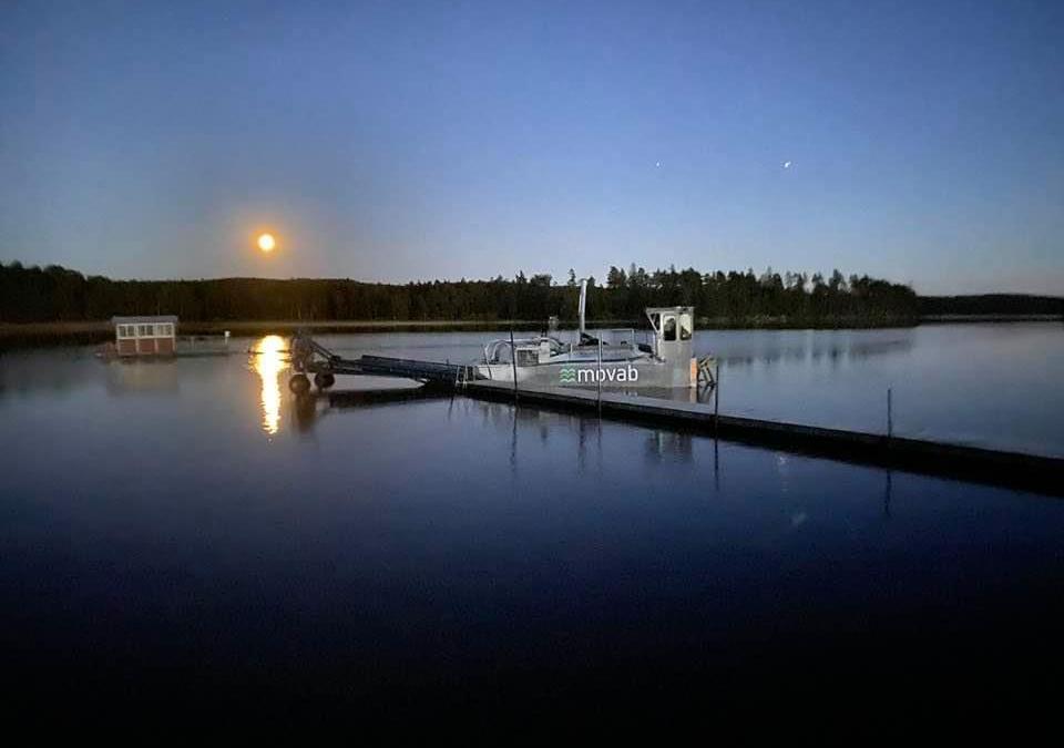 En fin Augustikväll med båtkalkning